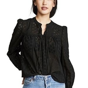 NWT Madewell Double Tie Peasant Top
